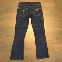 Hudson Bootcut Jeans Flap Pockets W170DIX Dark Blue Woman's Size 26
