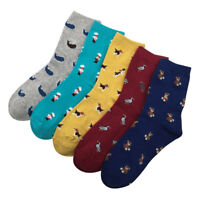 Warm Socks Cartoon Animal Women Cotton Short Socks Casual Socks Lady Spring-/