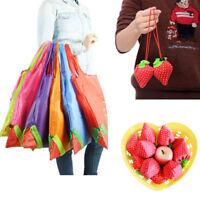 1Pc Foldable Shopping Bag Eco Storage Handbag Strawberry Reusable Grocery Totes