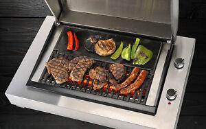 CROSSRAY HEATSTRIP ELECTRIC BBQ REVOLUTIONARY POWERFUL HOOD 300°C STAINLESS NEW!