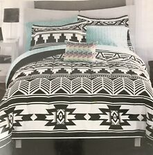 DORM Twin/Twin XL 6 Piece Coordinated Bedding Set Mainstays Black White Tribal