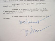 """Le général de Bénouville médite sur les """"Vieux-Catholiques""""."""