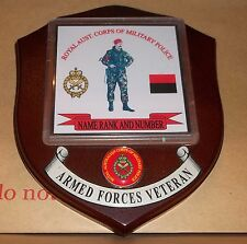 Australian Armed Forces, Royal Aust. Corps of Military Police Vets Wall Plaque.