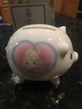 Precious Moments 2001 # 104832 Collector's Club Piggy Bank Figurine W/ Box Used