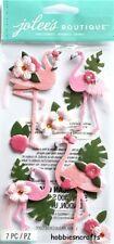 FLAMINGO Jolee's Boutique 3-D Gemstone Stickers Flamingos with Flowers & gems
