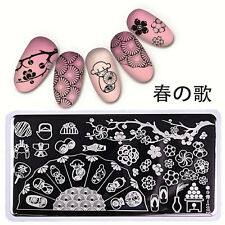 12*6cm Nail Art Stamping Plates Stamp Template Image Flower BORN PRETTY L002