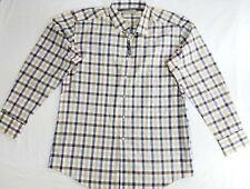 Lawrence Hunt Mens Button Front Long Sleeve Collar Shirt Casual Cotton Plaid XL