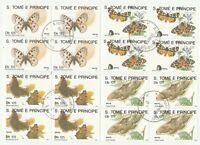 Schmetterlinge S.Tome E.Principe gestempelt hoher Katalogwert 34 E 30