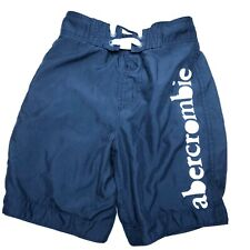 Abercrombie Boys Swim trunks bathing suit Blue Small lined stretch waist