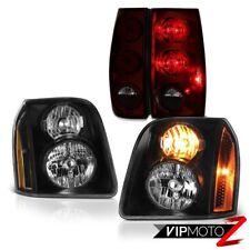 07-14 GMC Yukon XL SLE Smokey Red Tail Lights Raven Black Headlights Assembly