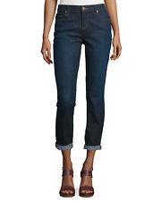 Eileen Fisher Deep Indigo Organic Cotton Stretch Denim BOYFRIEND Jean - 18