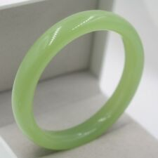 Arrival Perfect Green Agate Bracelet Woman Fine Elegant Smooth Bangle 60mmn Gift
