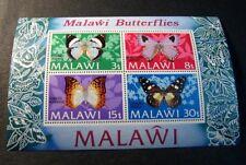 Souvenir Sheet Malawi Stamp Scott# 202a Butterflies 1973  MNH C505