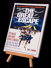 "Steve McQueen ""The Great Escape 1 "" MOVIE POSTER CANVAS PRINT"