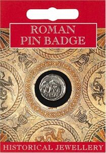 Roman Caesar Coin Pewter Lapel Pin Badge