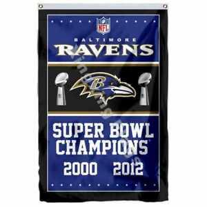 Baltimore Ravens Super Bowl Champions Flag 3X5 FT NFL Banner Polyester