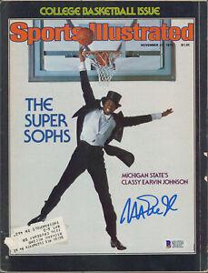 Lakers Magic Johnson Signed Nov. 1978 Sports Illustrated Magazine BAS #MJ15328