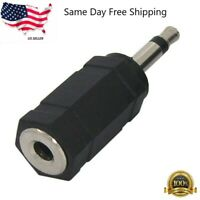"3.5mm 1/8"" Stereo Female Jack to 3.5mm Mono Male Plug Audio Converter Adapter"