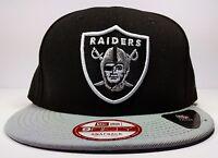 Los Angeles Oakland Raiders New Era 9Fifty Black Bind Back On Field Snapback NFL