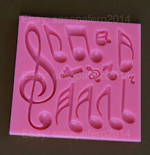 Music notes silicone mold for fondant, chocolate 13 cavities. Molde notas musica