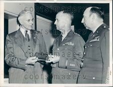 1948 US Army Maj Gen Spencer Akin Radar Moon Contact Smithsonian Press Photo