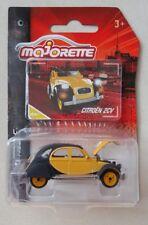 MAJORETTE Vintage Citroen 2 CV jaune noir yellow black N° 253A 1.64