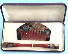 More details for h3444 vintage japanese traditional matching set hair ornaments boxed