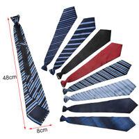 Lazy Men's Zipper Necktie Solid Casual Business Wedding Slim Zip Up Neck Tie.