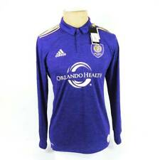 Orlando City Adidas Mens Soccer Authentic Jersey Purple Long Sleeve 7417A M New