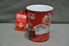 More details for 1x coca cola large 3d embossed ceramic mug with iconic santa christmas 2020 gift