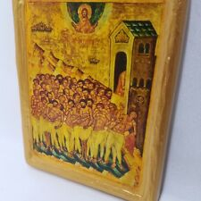 Saints Forty Martyrs of Sebaste Rare Eastern Orthodox Icon Art on Wood