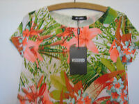 A LOVELY MISSGUIDED MULTI COLOURED DRESS DRESS SIZE 10 ( NEW WITH TAGS )