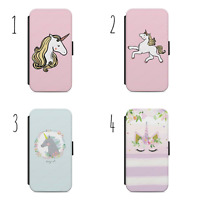 Unicorn Magic Design Flip Wallet Phone Case Cover for All iPhone & Samsung
