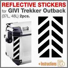 2pcs Rifrangenti Strisce Neri compatibile con GIVI TREKKER OUTBACK 48 37 ltr