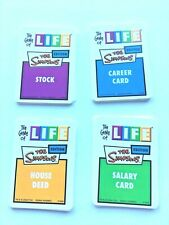 The Game of Life Simpsons Edition 2004 Deck Of All 36 Cards Replacement Pieces