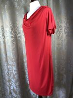 Holly Willoughby Dress Red Cowl Size UK16