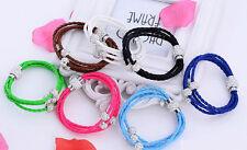 Shamballa PU Braided Leather Bracelet