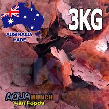 Aquamunch Tropical Bloodworm Fish Food Worm Flakes GRAIN FREE Flake Feed 3KG