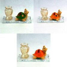 Bomboniere portapenne in vetro con tartaruga e coccinella battesimo comunione