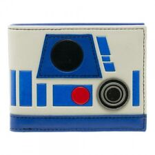 OFFICIAL STAR WARS RD-D2 STYLED WHITE & BLUE BI-FOLD WALLET (BRAND NEW)