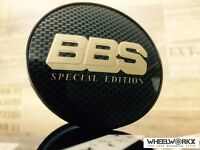 4xOriginal BBS Emblem  Felgendeckel Nabendeckel carbon/bronze 70,6mm 0924703