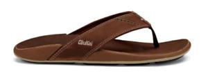 Olukai Nui Rum/Rum Comfort Flip Flop Men's US sizes 7-15 NEW!!!