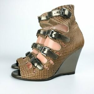 Surface to Air 'Liege' Wedge Sandals, UK6, EU39, US8, brown strappy sandals