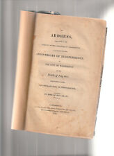 JOHN QUINCY ADAMS. 1821: ADDRESS FOR FOURTH OF JULY, 1821. RARE