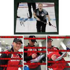 """BRAD JACOBS signed """"2014 SOCHI OLYMPICS"""" 8X10 Photo PROOF (I) Gold Medal Curling"""