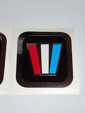 4  Wellcraft Chrome W decals  Wellcraft square Decals  Marine vinyl NOT Ink-Jet