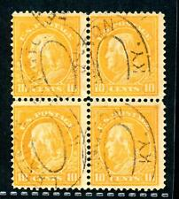 #416 - used blk (4) Fine w/ (4) Lexington, KY double oval cancels - s.o.n.!