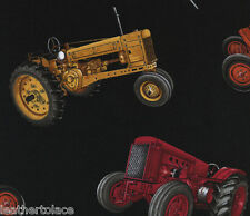 Timeless Treasures  ASSORTED REALISTIC TRACTORS 100% Cotton Quilt Fabric Remnant