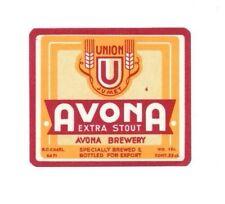 Belgium - Beer Label - Brasserie Union, Jumet - Avona Extra Stout
