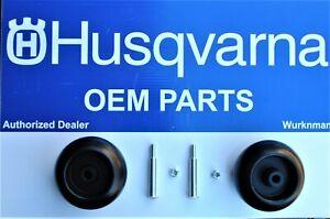2 pack of Genuine OEM Husqvarna 532133957 Scalp Wheels  bolts and lock nuts